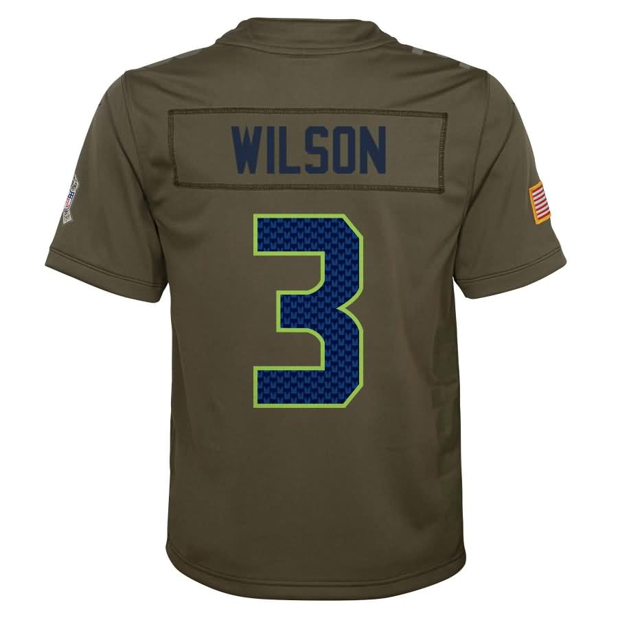 Russell Wilson Seattle Seahawks Nike Youth Salute to Service Game Jersey - Olive