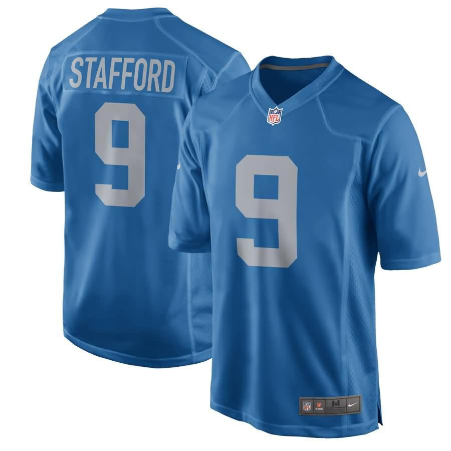 Matthew Stafford Detroit Lions Nike Youth 2017 Throwback Game Jersey - Blue