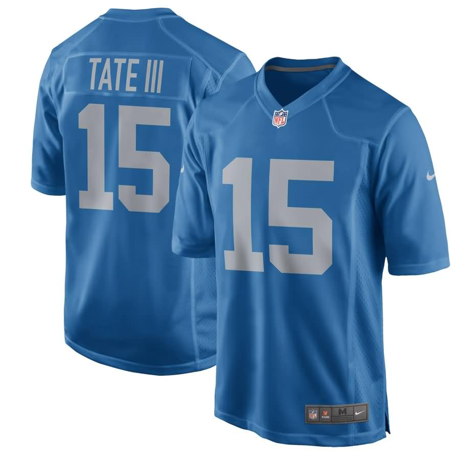 Golden Tate Detroit Lions Nike Youth 2017 Throwback Game Jersey - Blue