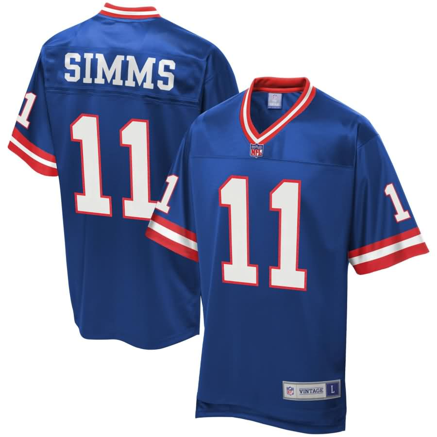 Phil Simms New York Giants NFL Pro Line Retired Player Replica Jersey - Royal