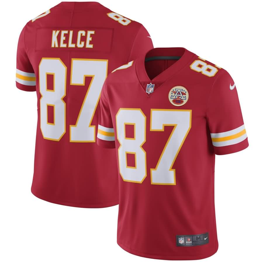 Travis Kelce Kansas City Chiefs Nike Youth Vapor Untouchable Limited Player Jersey - Red
