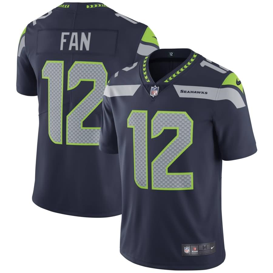 12s Seattle Seahawks Nike Youth Vapor Untouchable Limited Player Jersey - College Navy