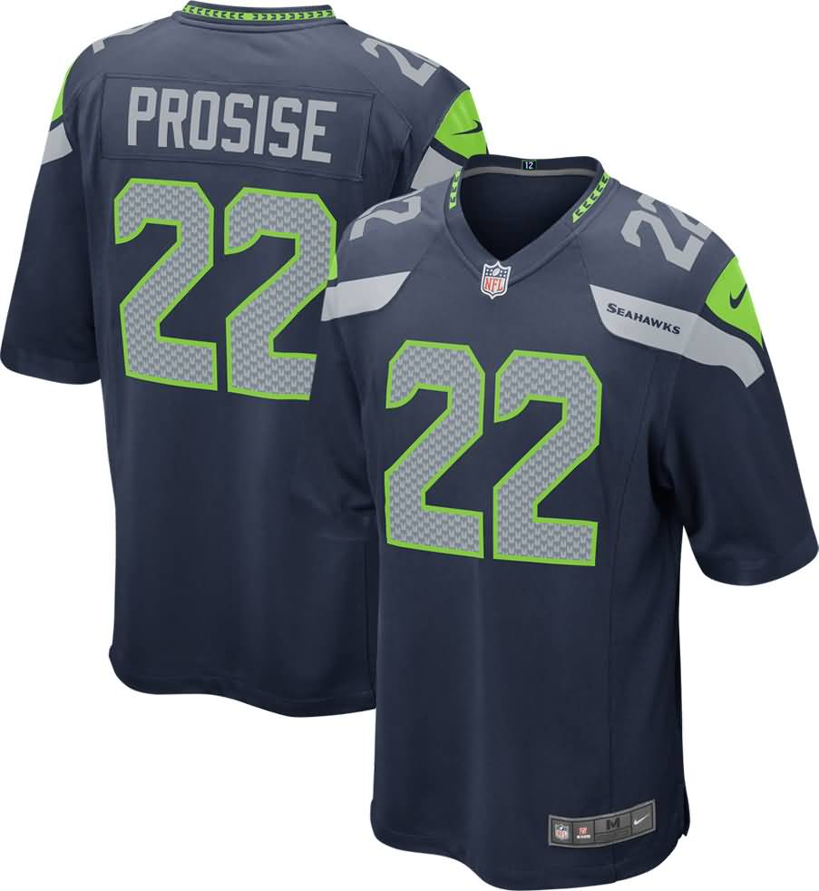 C.J. Prosise Seattle Seahawks Nike Youth Game Jersey - College Navy