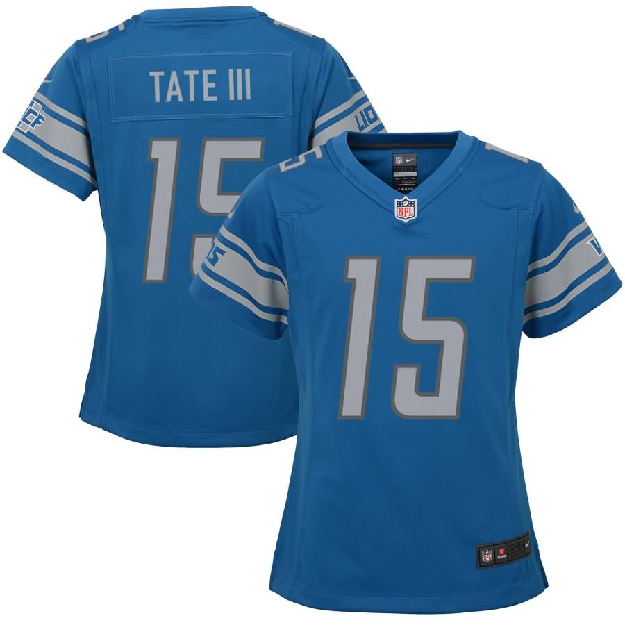 Golden Tate Detroit Lions Nike Girls Youth Game Jersey - Blue
