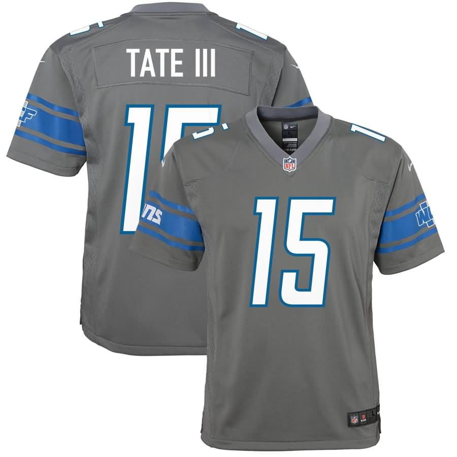 Golden Tate Detroit Lions Nike Youth Color Rush Game Jersey - Steel