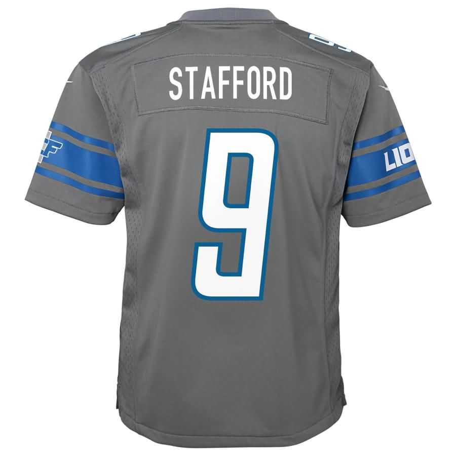 Matthew Stafford Detroit Lions Nike Youth Color Rush Game Jersey - Steel