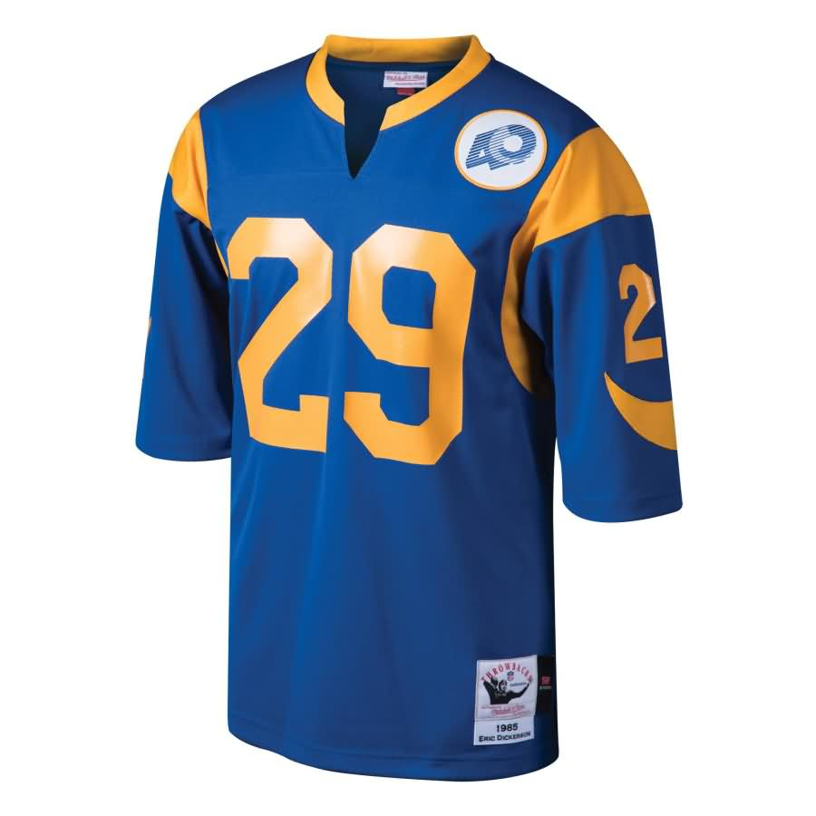 Eric Dickerson Los Angeles Rams Mitchell & Ness Throwback 40th Anniversary Patch Authentic Retired Player Jersey - Royal