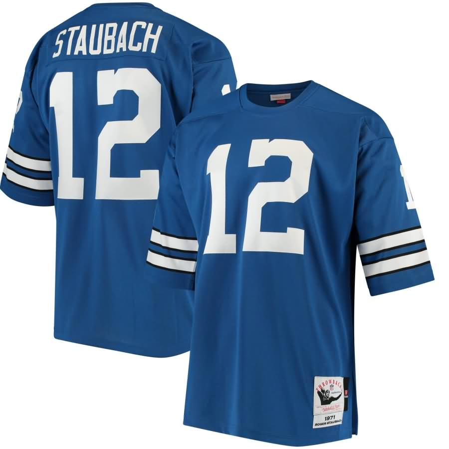 Roger Staubach Dallas Cowboys Mitchell & Ness 1971 Authentic Retired Player Jersey - Blue