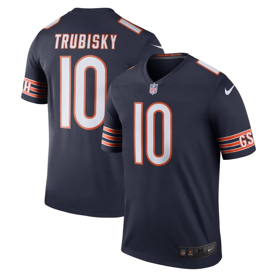 Mitchell Trubisky Chicago Bears Nike Color Rush Legend Jersey - Navy