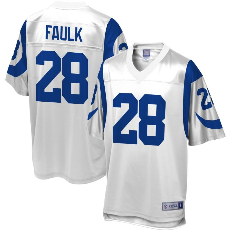 Marshall Faulk St. Louis Rams NFL Pro Line Retired Player Replica Jersey - White