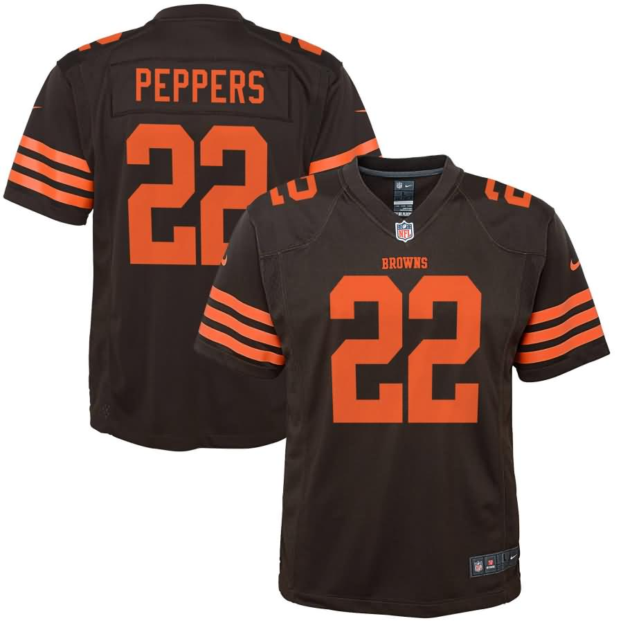 Jabrill Peppers Cleveland Browns Nike Youth Color Rush Game Jersey - Brown