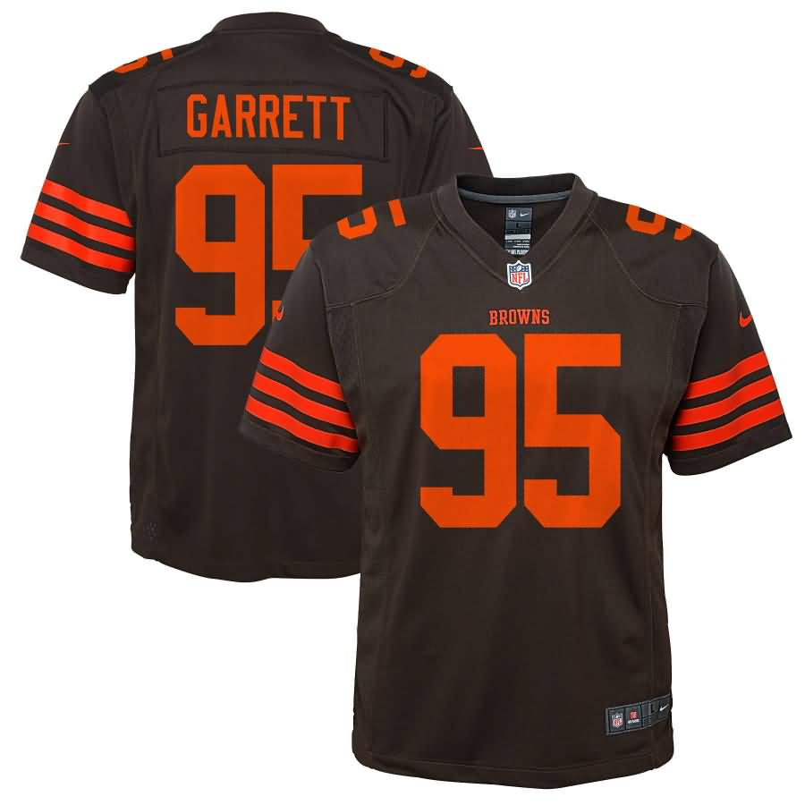 Myles Garrett Cleveland Browns Nike Youth Color Rush Game Jersey - Brown