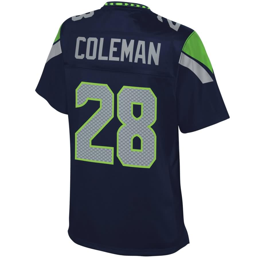 Justin Coleman Seattle Seahawks NFL Pro Line Women's Home Player Jersey - College Navy