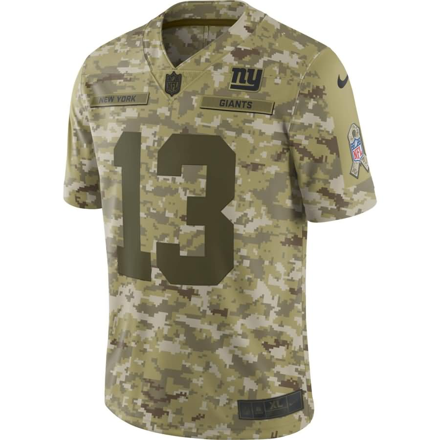 Odell Beckham Jr New York Giants Nike Salute to Service Limited Jersey - Camo