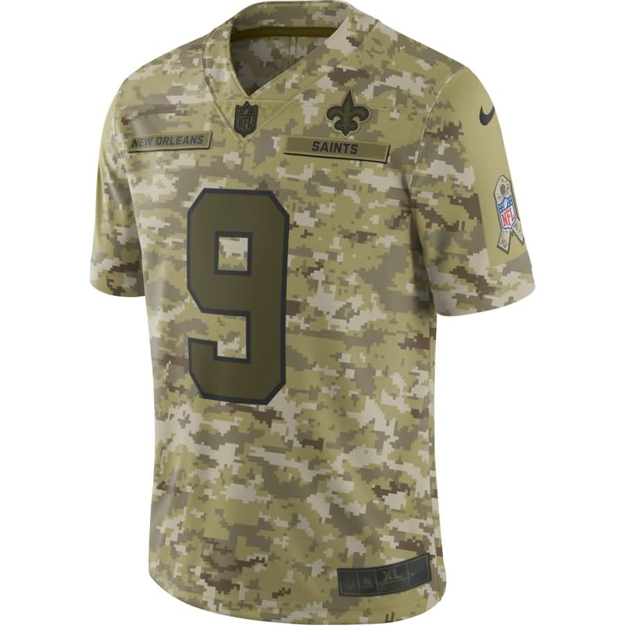 Drew Brees New Orleans Saints Nike Salute to Service Limited Jersey - Camo