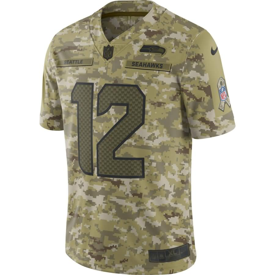 12s Seattle Seahawks Nike Salute to Service Limited Jersey - Camo
