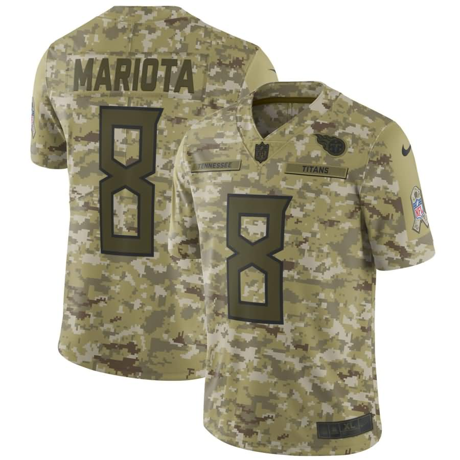 Marcus Mariota Tennessee Titans Nike Salute to Service Limited Jersey - Camo