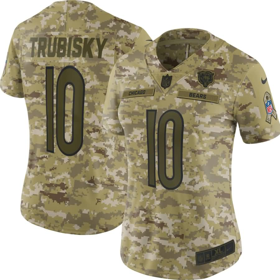 Mitchell Trubisky Chicago Bears Nike Women's Salute to Service Limited Jersey - Camo