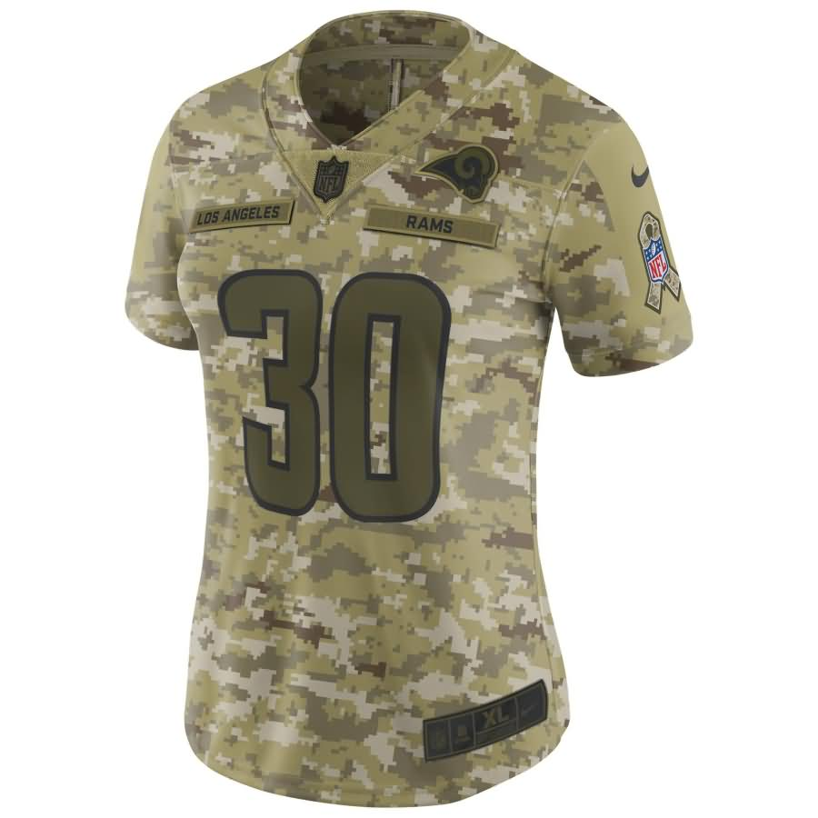 Todd Gurley II Los Angeles Rams Nike Women's Salute to Service Limited Jersey - Camo
