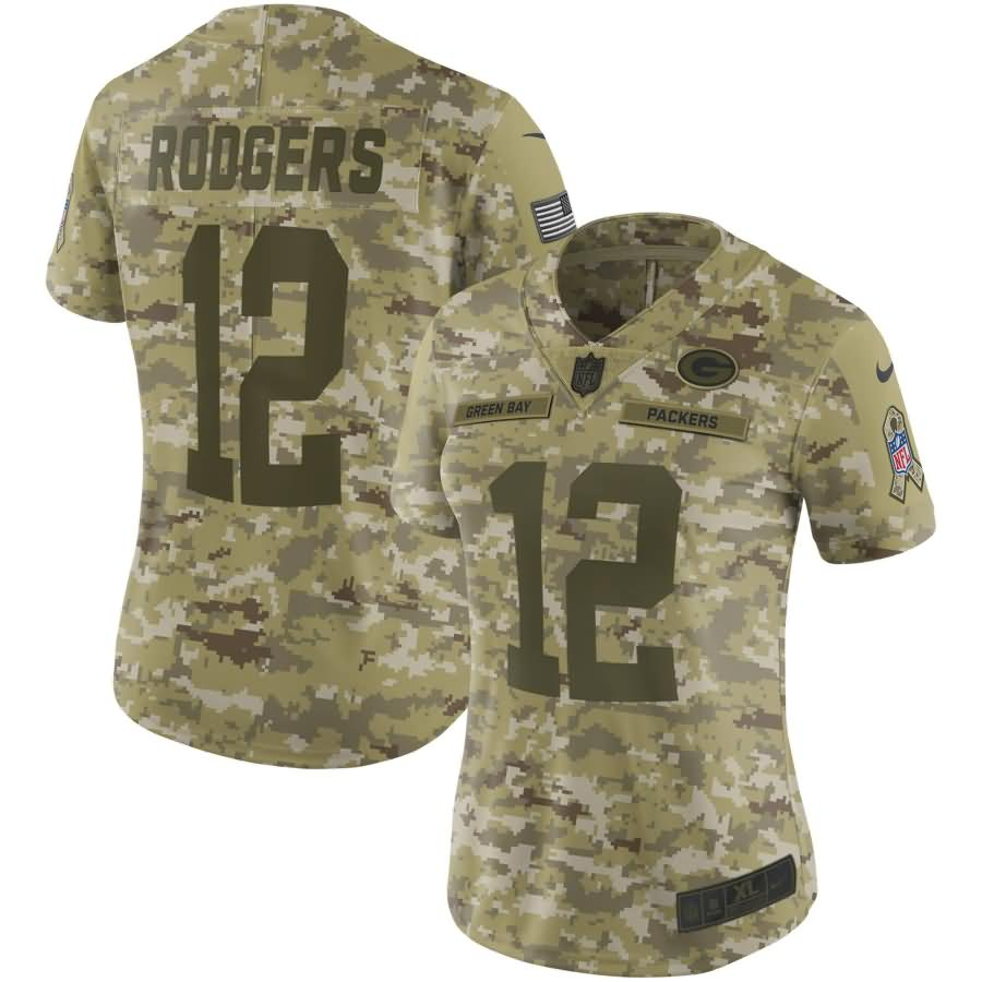 Aaron Rodgers Green Bay Packers Nike Women's Salute to Service Limited Jersey - Camo