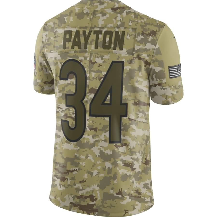 Walter Payton Chicago Bears Nike Salute to Service Retired Player Limited Jersey - Camo
