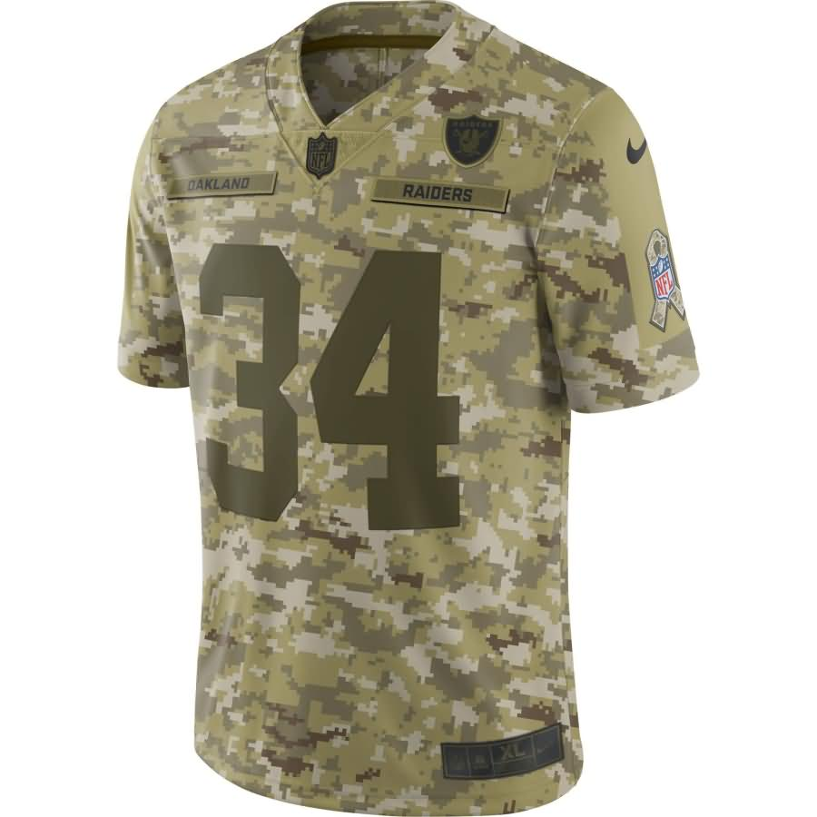 Bo Jackson Oakland Raiders Nike Salute to Service Retired Player Limited Jersey - Camo