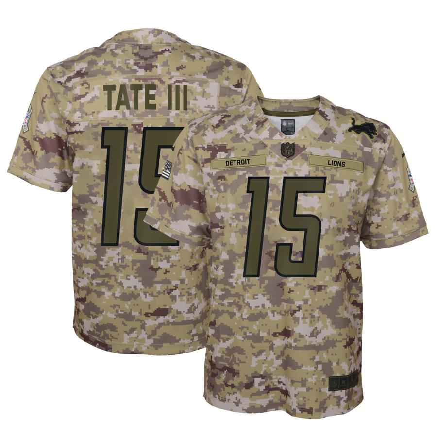 Golden Tate Detroit Lions Nike Youth Salute to Service Game Jersey - Camo