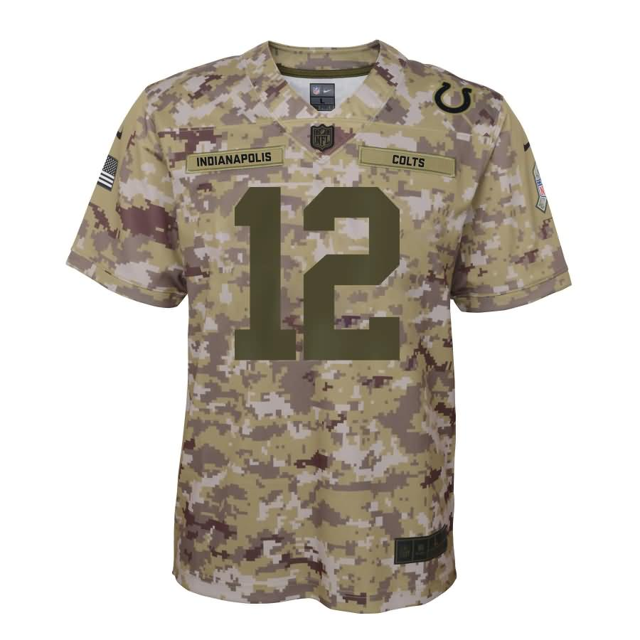 Andrew Luck Indianapolis Colts Nike Youth Salute to Service Game Jersey - Camo
