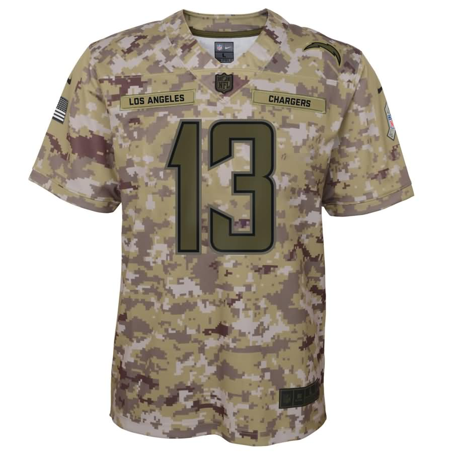 Keenan Allen Los Angeles Chargers Nike Youth Salute to Service Game Jersey - Camo