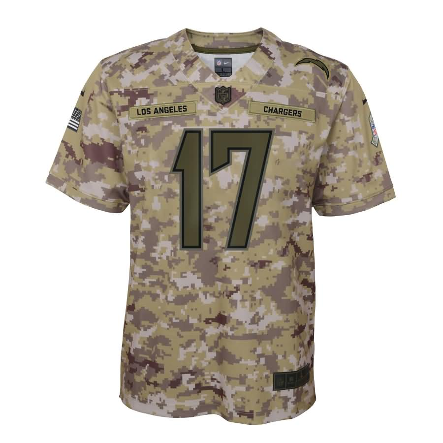 Philip Rivers Los Angeles Chargers Nike Youth Salute to Service Game Jersey - Camo
