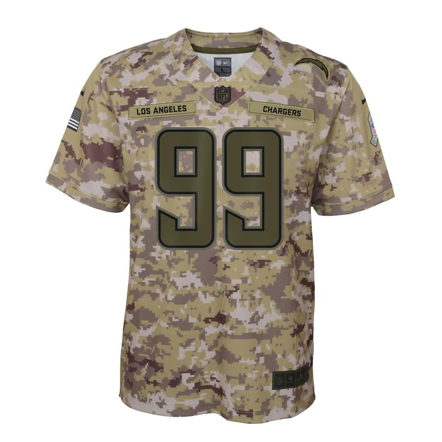 Joey Bosa Los Angeles Chargers Nike Youth Salute to Service Game Jersey - Camo
