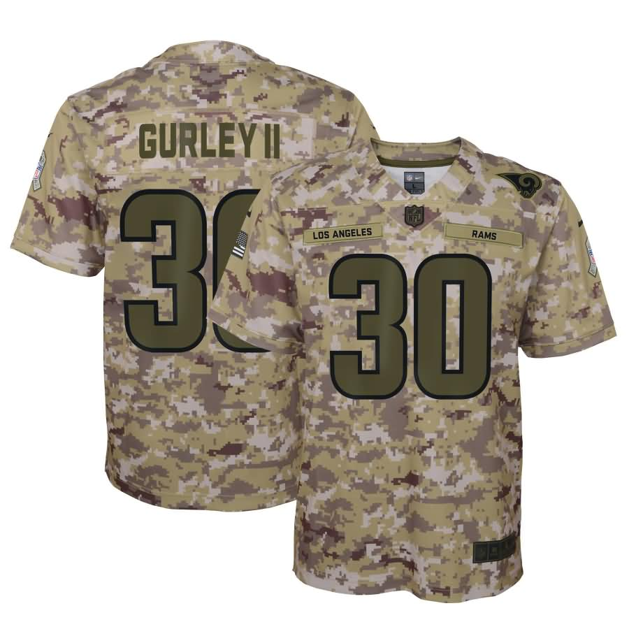 Todd Gurley II Los Angeles Rams Nike Youth Salute to Service Game Jersey - Camo