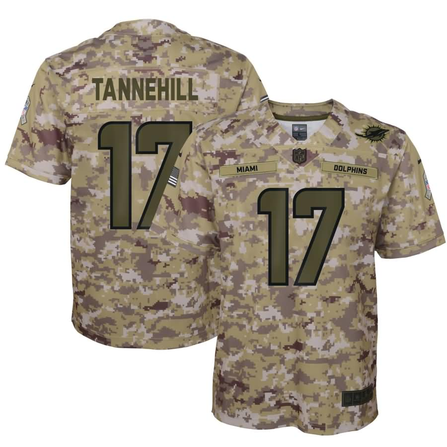 Ryan Tannehill Miami Dolphins Nike Youth Salute to Service Game Jersey - Camo