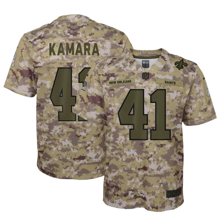 Alvin Kamara New Orleans Saints Nike Youth Salute to Service Game Jersey - Camo