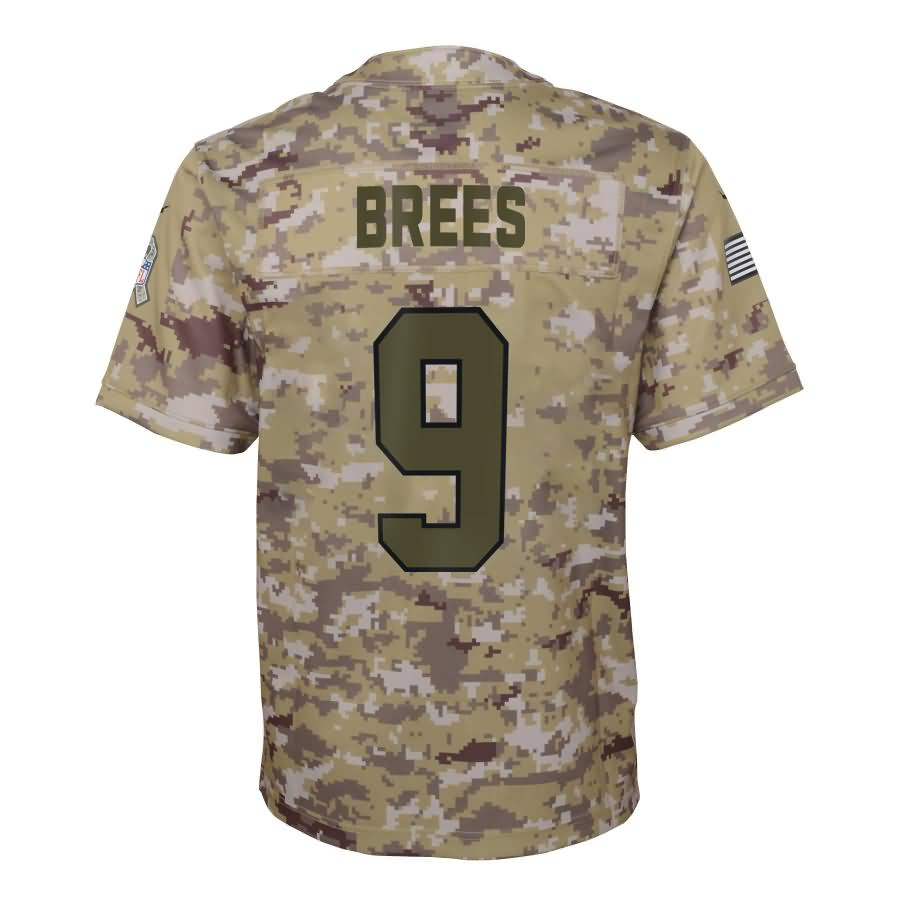 Drew Brees New Orleans Saints Nike Youth Salute to Service Game Jersey - Camo