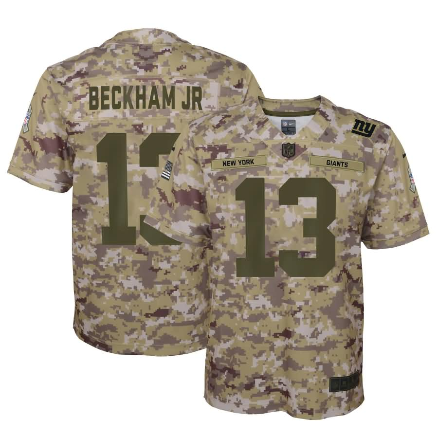 Odell Beckham Jr New York Giants Nike Youth Salute to Service Game Jersey - Camo