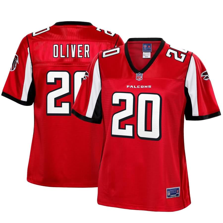 Isaiah Oliver Atlanta Falcons NFL Pro Line Women's Player Jersey - Red